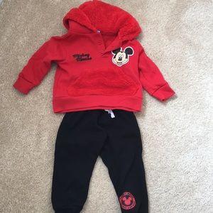 EUC Disney Mickey Mouse Sweatshirt & Sweatpants